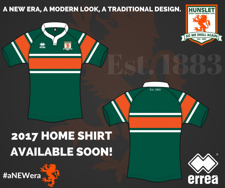 Erreà is Hunslet Hawks Rugby League Football Club's new sponsor!