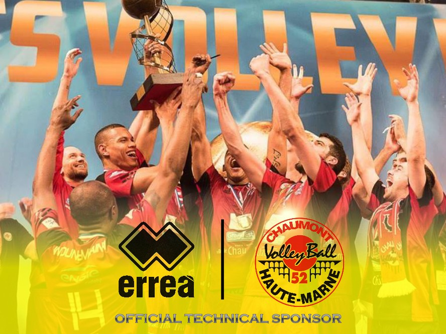Erreà is the new official technical partner for French Champion, Chaumont Volley-Ball