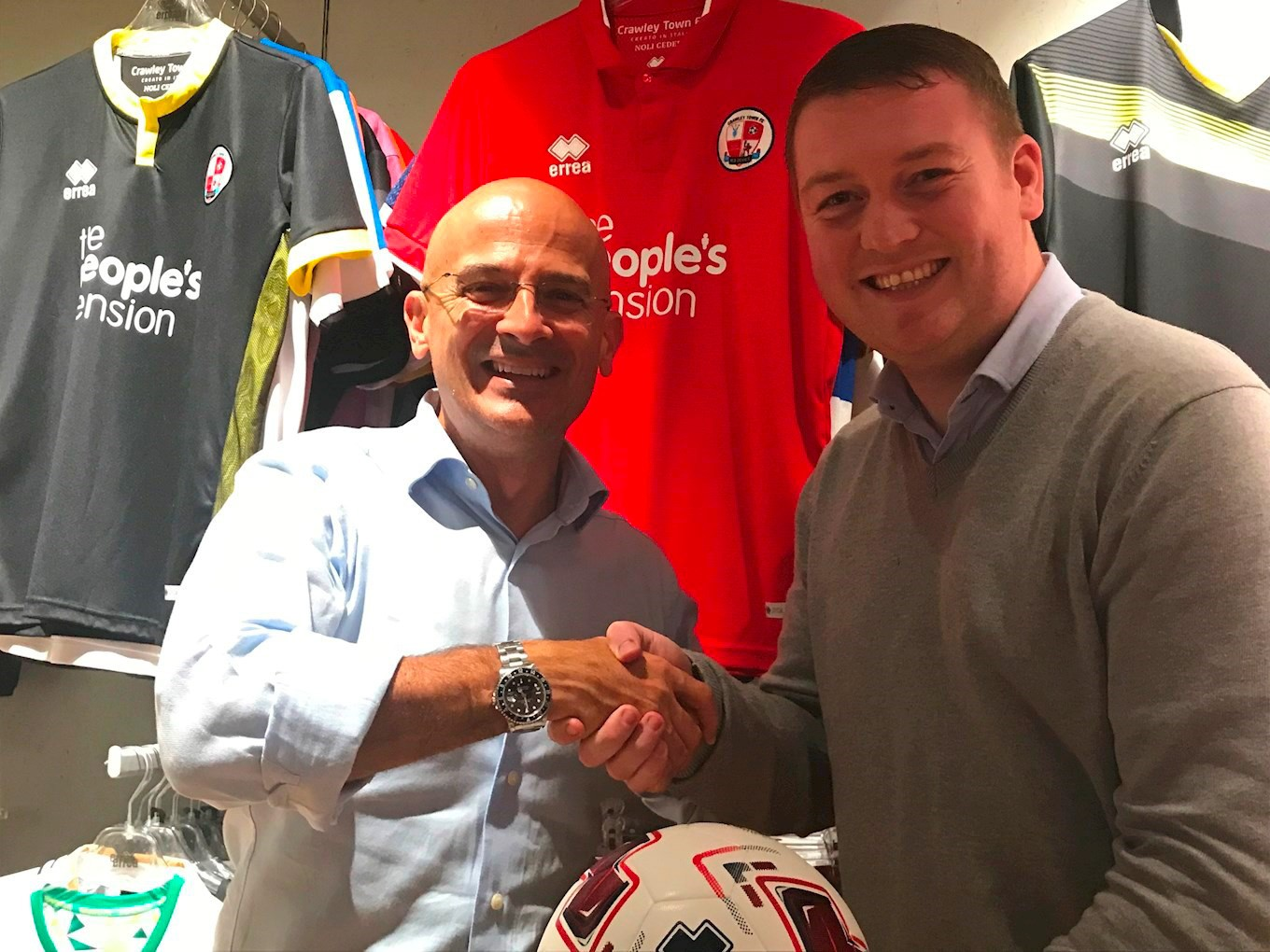 Erreà Sport and Crawley Town are delighted to confirm that we have extended our partnership for the next two years