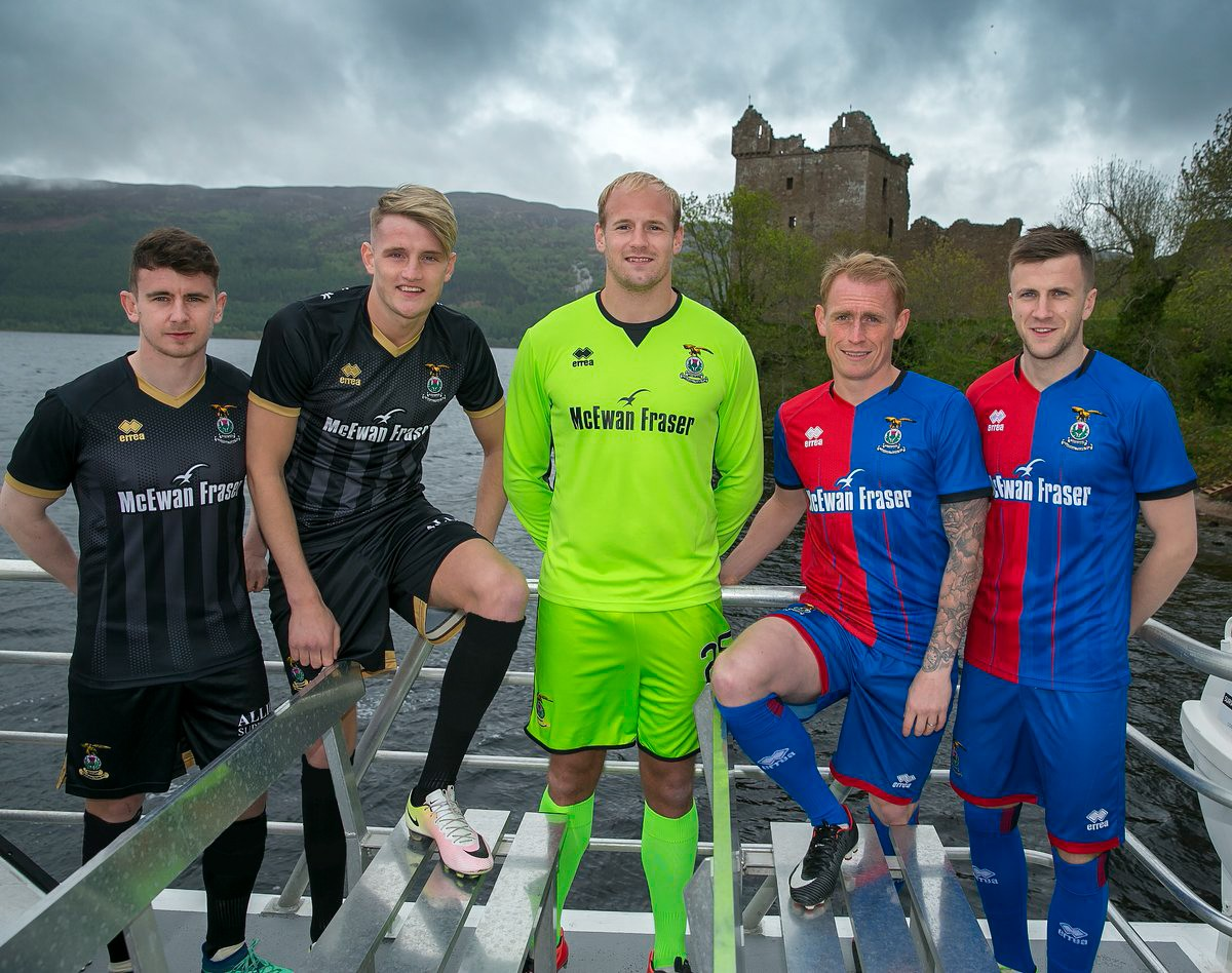 Inverness Caledonian Thistle presents the new kits for the coming 2018-2019 season