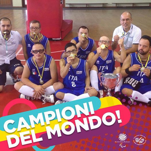 Italy's National Down Syndrome basketball team are Champions of the World!