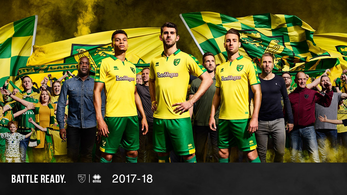 Norwich City has revealed its first home kit, by Erreà for 2017-2018!