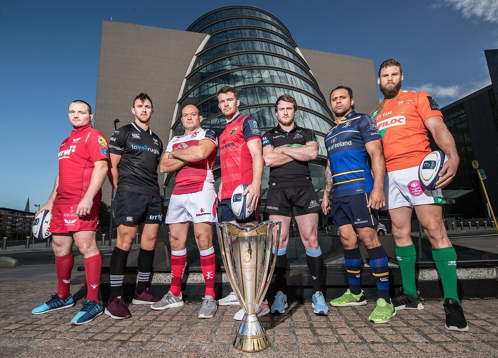 Presentation of the new edition of the EPCR Champions Cup: Benetton Rugby show off their new Erreà second shirt!