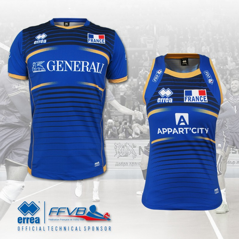 The French Volleyball Federation's new Erreà shirts will make their first appearance in the two friendly encounters against Belgium