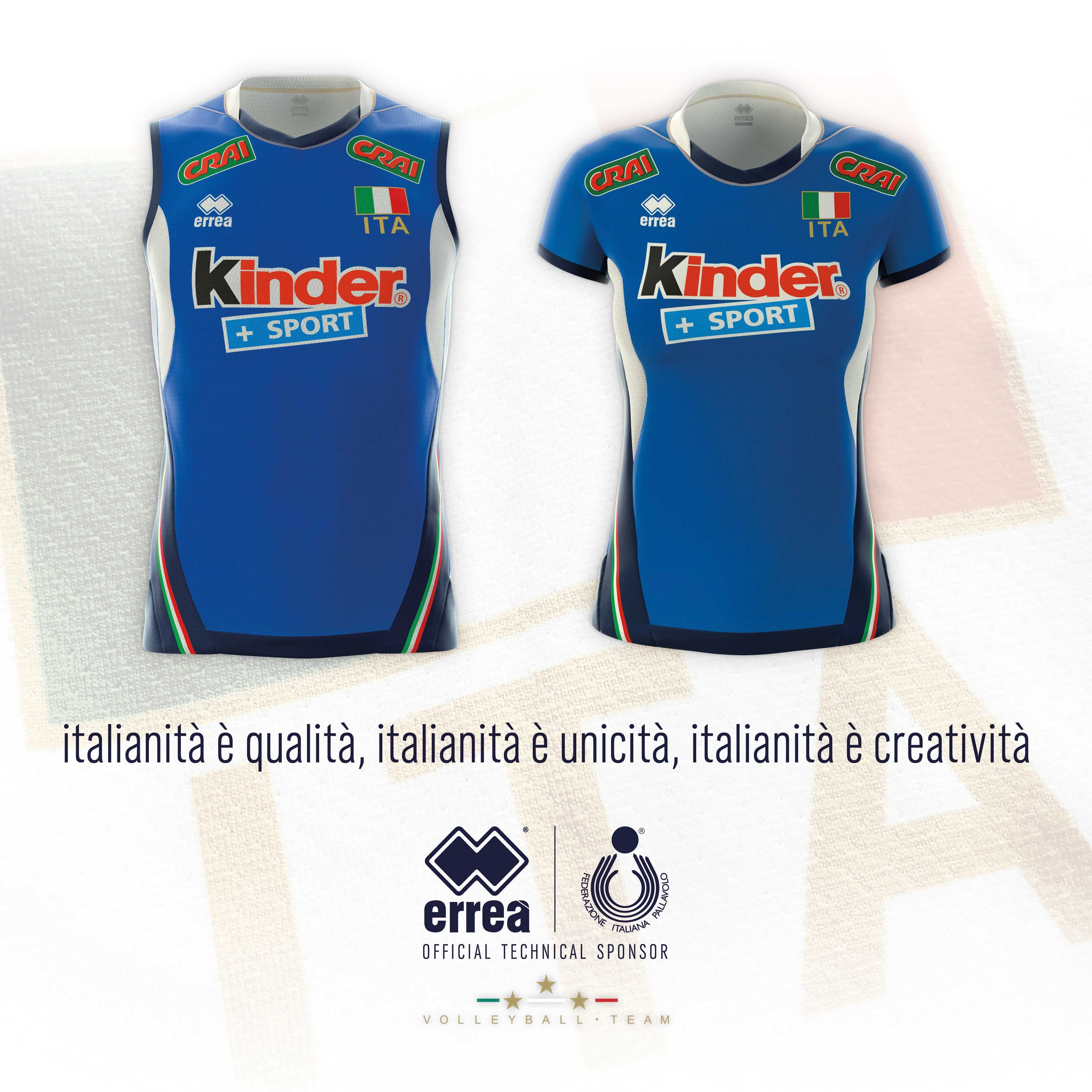The new Erreà Sport kits for the Italian Volleyball team are unveiled!