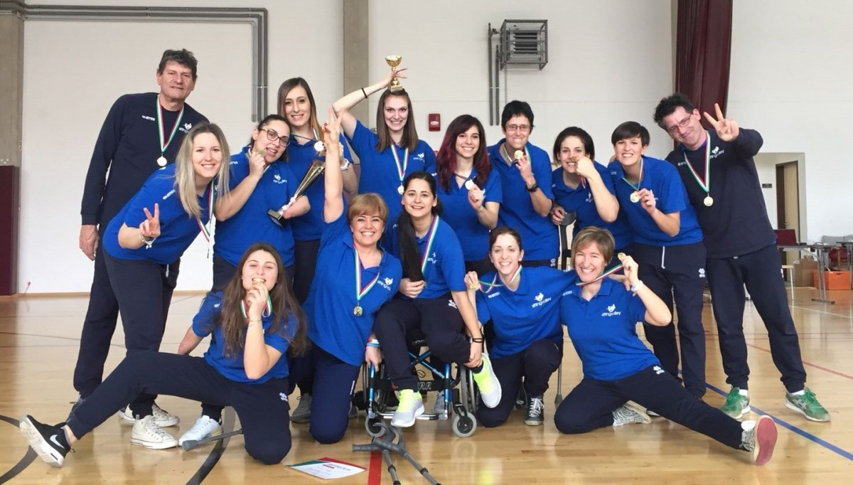 The women of Italy's national sitting volleyball team win the Hungarian Open Tournament!