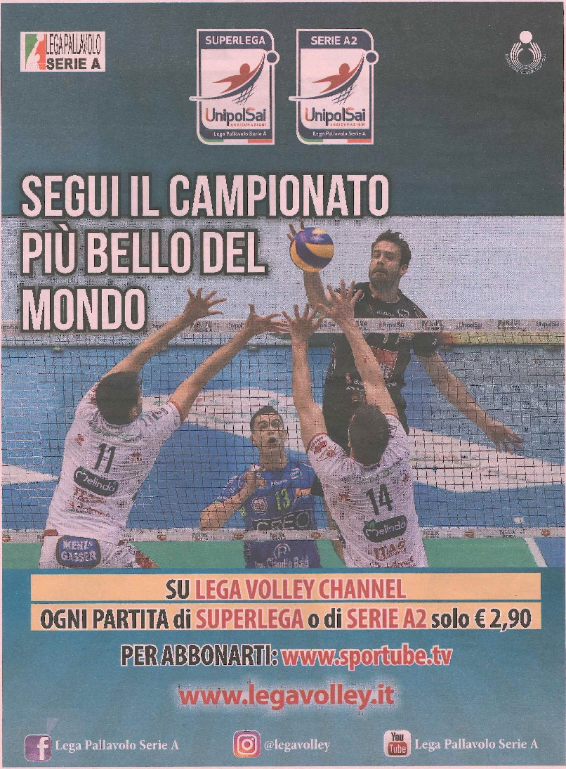 VcomeVolley- Gazzetta dello Sport - 10 February 2017