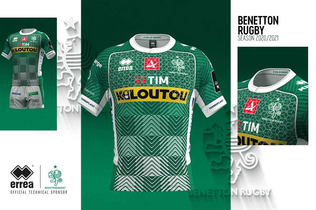 ampliar Punto interior  News - Weaving-inspired, graphic originality and fabric research: the new  2020-2021 Benetton Rugby kits - Erreà